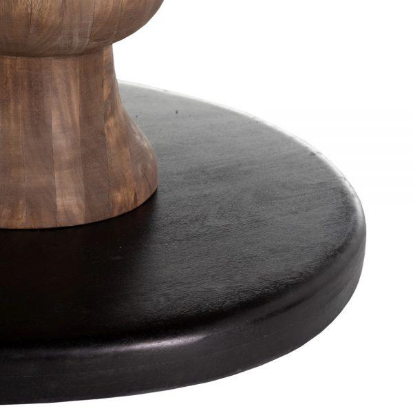 Mesa comedor natural-negro