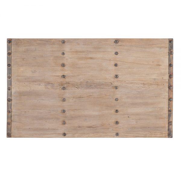 Mesa centro natural madera de olmo