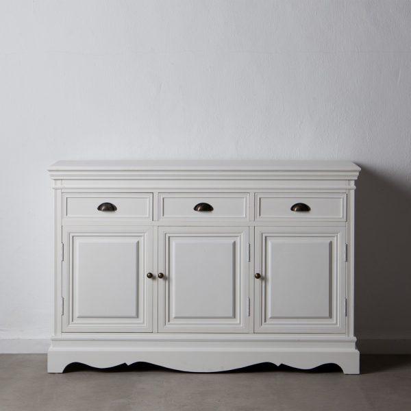 Aparador blanco madera salón
