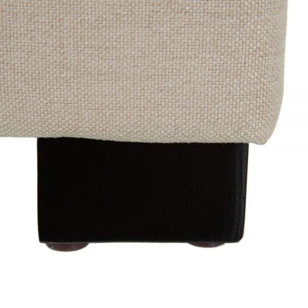 Cabecero crema tejido-madera dormitorio