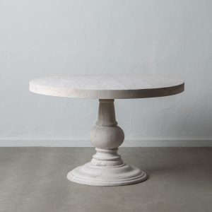 Mesa comedor blanco rozado