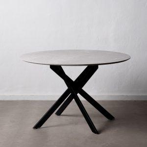 Mesa comedor negro dm-metal salón