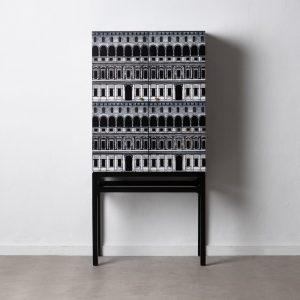"""Armario """"cabinet"""" negro-blanco"""