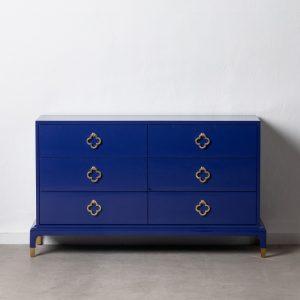 Aparador azul madera de abeto salón
