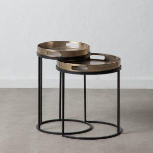 mesa auxiliar oro-negro