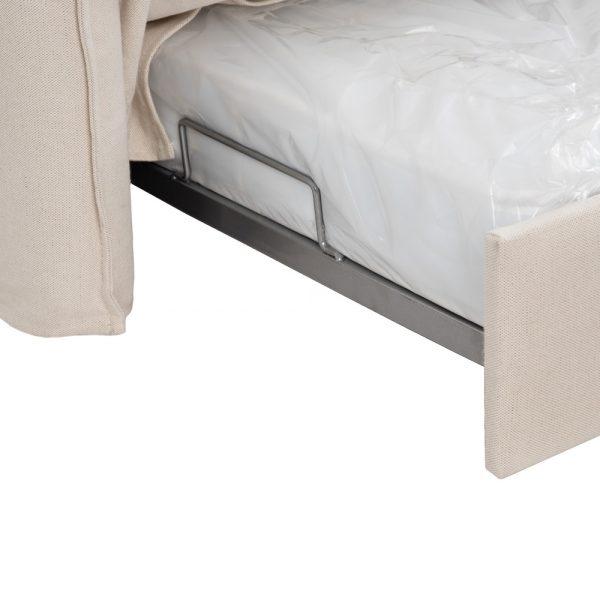 Sofá-cama nido beige tejido salón