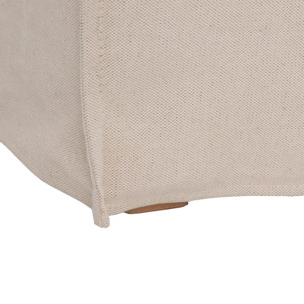 Sofá 2 plazas beige tejido salón