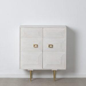 Armario blanco madera / metal salón