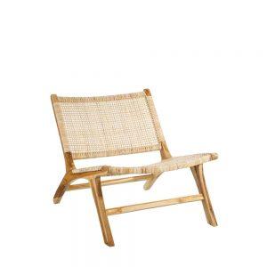 Butaca natural madera teka/fibra natural